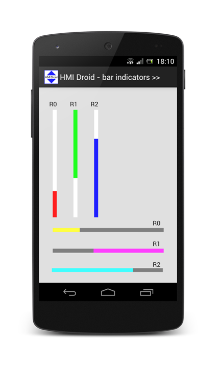Bar Indicator HMI Droid Android app