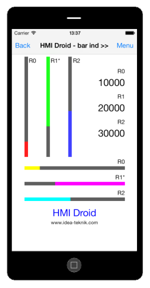 hmi droid ios bar indicator