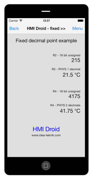 hmi ios fixed point