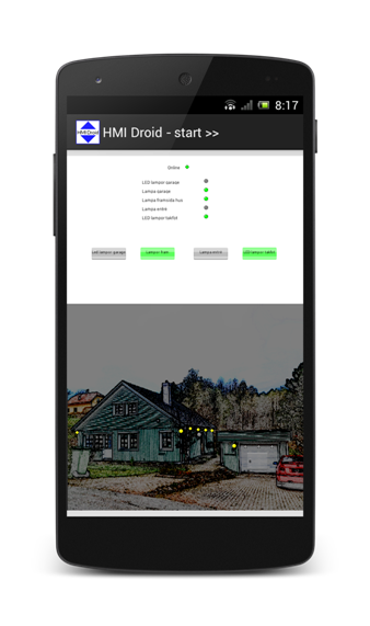 HMI Droid android home automation smartphone phone app